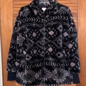 LuLaRoe XS Nancy Aztec Print Fleece Pullover